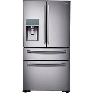 "Samsung RF24FSEDBSR 36"" Counter Depth French Door Refrigerator with FlexZone Drawer and External Water/Ice Dispenser"