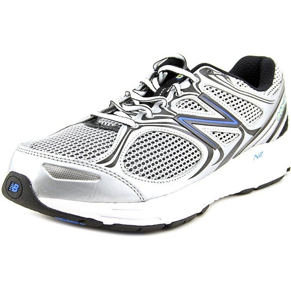 New Balance M840 Men 2E Round Toe Canvas Silver Walking Shoe