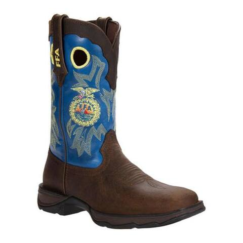 "Durango Boot Women's RD033 10"" Lady Rebel Western Brown/FFA Blue"