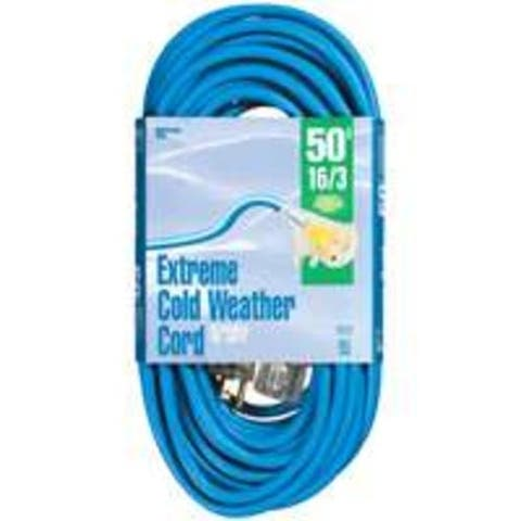 Coleman 2435 Coldflex Extension Cords, 50', Blue