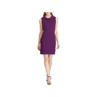 American Living Womens Wear to Work Dress Textured Cowl-Neck