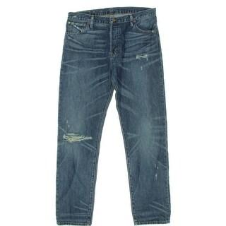 Denim & Supply Ralph Lauren Womens Destroyed High Rise Boyfriend Jeans