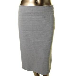 Calvin Klein Womens Textured Knee-Length Pencil Skirt - XL