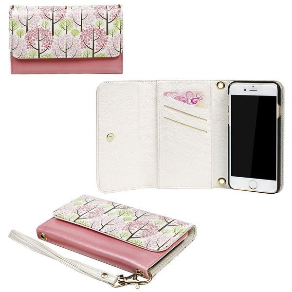 JAVOedge Pastel Forest Clutch Wallet Case with Matching Wristlet for iPhone 6 (4.7 inch)