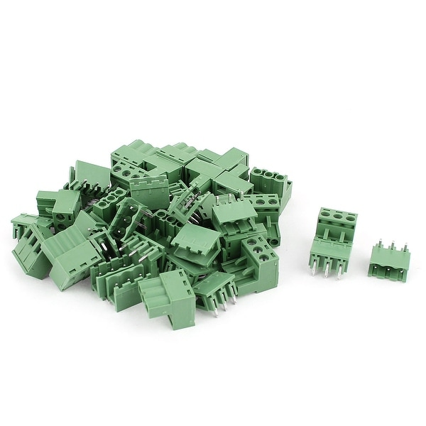 Unique Bargains 20 Pair 3 Position 5.08mm Pitch Male Female PCB Screw Terminal Block Connectors