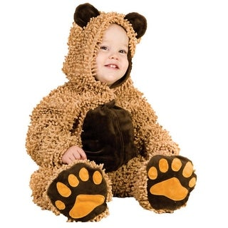 Baby Boys Brown Chenille Teddy Bear Jumpsuit Booties Halloween Costume