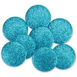 Aqua - Dress It Up Big Glitter Dots 19Mm 8/Pkg