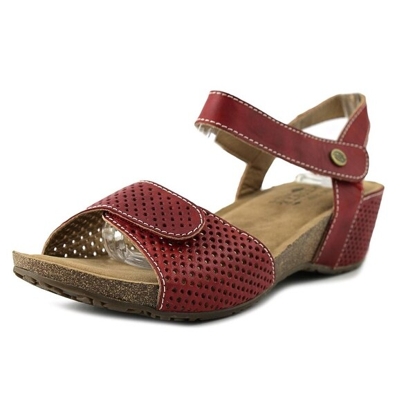 L'Artiste by Spring Step Lexy Women  Open-Toe Leather Red Slingback Sandal