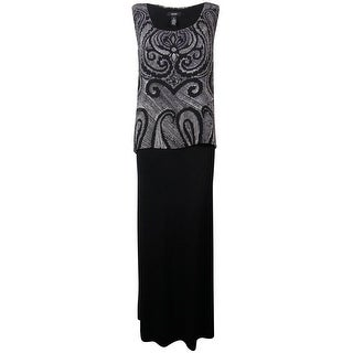 Alfani Women's Paisley Pop Over Maxi Dress - s