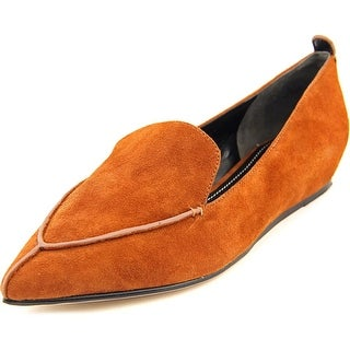 Charles David Bonita Women Pointed Toe Suede Brown Loafer