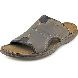 Clarks Brigham Catch Men Open Toe Leather Slides Sandal