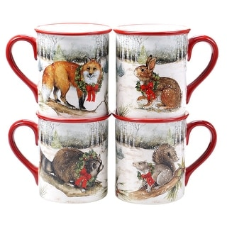 Link to Certified International Winter Forest 16 oz. Mugs (Set of 4) Similar Items in Dinnerware