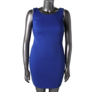 B. Darlin Womens Juniors Cocktail Dress Textured Sleeveless