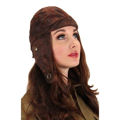 Steampunk Aviator Costume Helmet Hat Adult - Brown