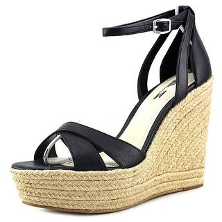 BCBGeneration Holly Open Toe Suede Wedge Sandal