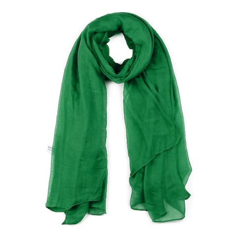 Soft Lightweight Long Scarves With Solid Color Shawl For Men Dark -1 - Green