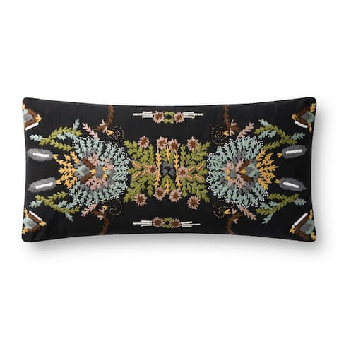 Alexander Home Leah Floral Embroidered Throw Pillow