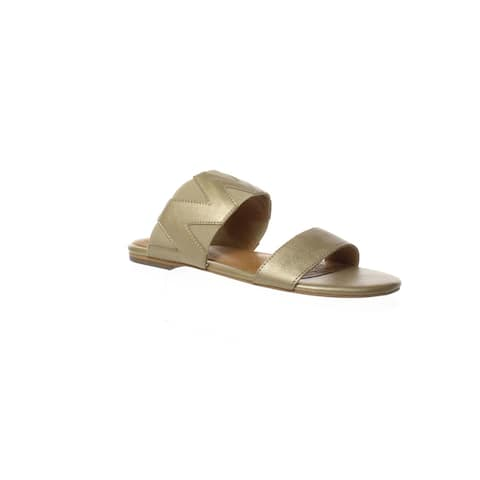Corso Como Womens Vickee Soft Gold Sandals Size 5