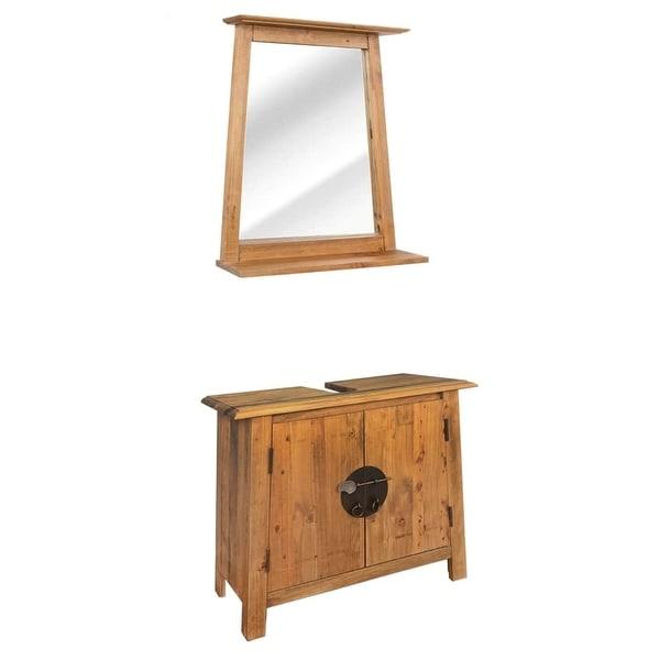 vidaXL Bathroom Furniture Set Solid Recycled Pinewood