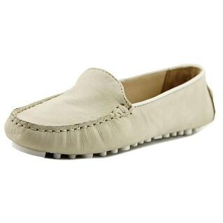 Cole Haan Hanneli Driver II Women Moc Toe Synthetic Ivory Loafer
