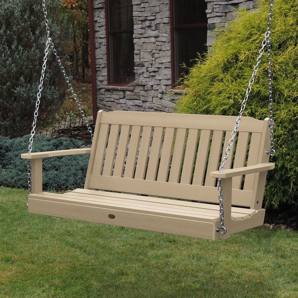 Highwood Lehigh 4-foot Eco-friendly Synthetic Wood Porch Swing. Opens flyout.