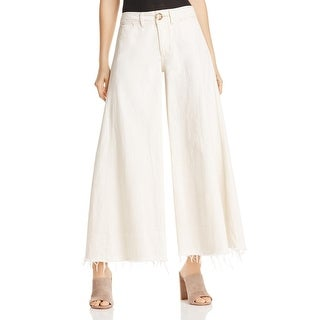 Free People Womens Dawn To Dusk Flare Jeans Cropped High Rise