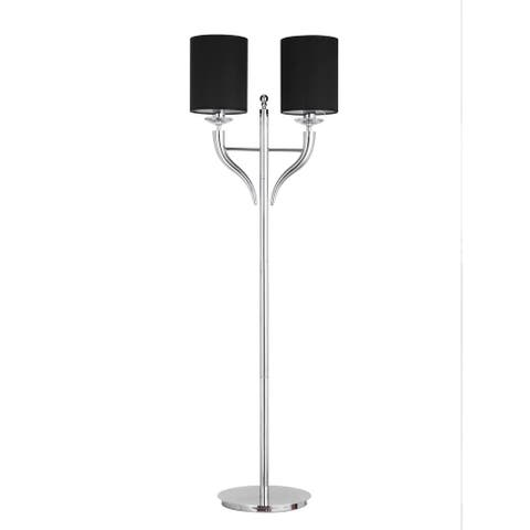Optima Floor Lamp Black Shades