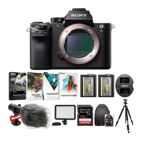 Sony Alpha a7S II Mirrorless Camera Body with 128GB SD Card & Microphone Bundle