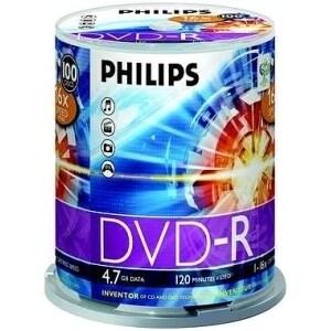 Philips DM4S6B00F/17 Philips 16x DVD-R Media - 4.7GB - 100 Pack