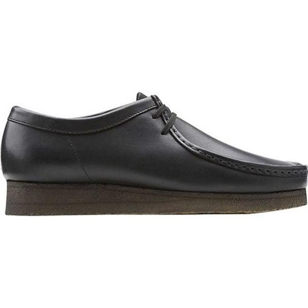 black leather wallabee clarks
