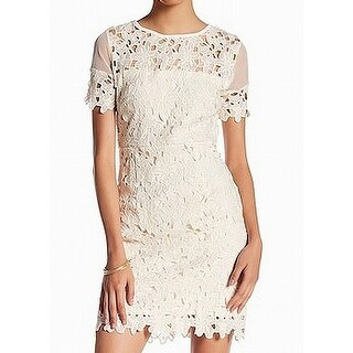 Romeo + Juliet White Ivory Womens Size Small S Lace Sheath Dress
