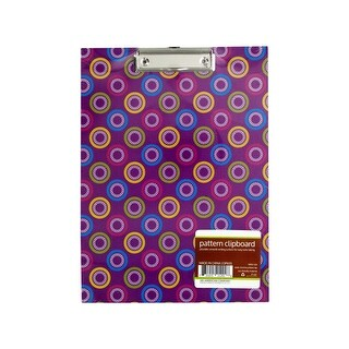 Pattern Clipboard with Steel-Chrome Plated Clip - Pack of 12