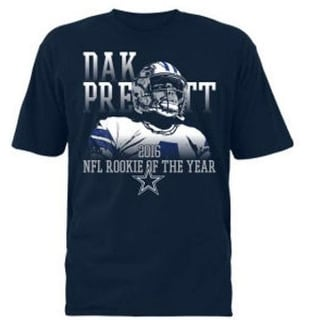 Dallas Cowboys Dak Prescott Rookie Of The Year Tshirt