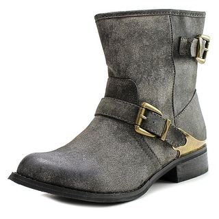 Mia Misty Round Toe Synthetic Mid Calf Boot
