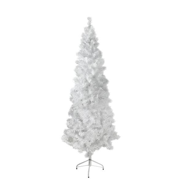 "6.5' x 32"" White Winston Pine Pencil Artificial Christmas Tree - Unlit"