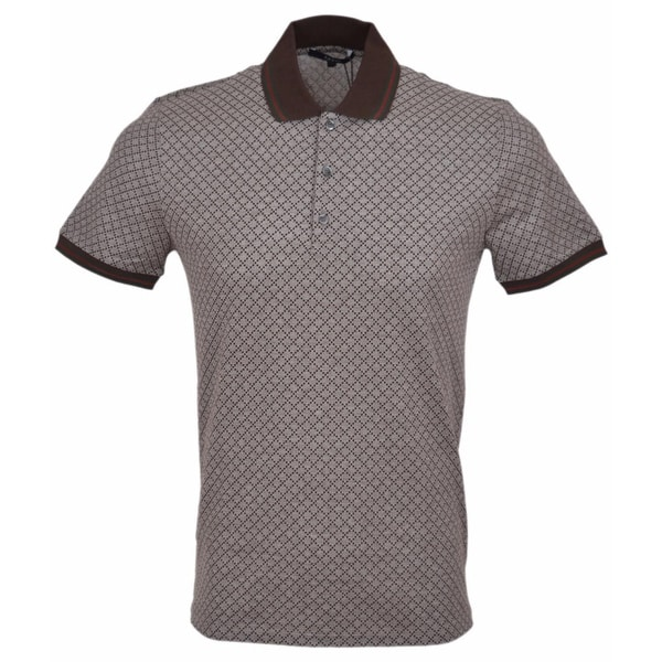 ca3a2a7c Shop Gucci Men's 251624 Cotton SLIM Fit Web Stripe Diamante Polo Shirt Large  - beige - Free Shipping Today - Overstock - 12038536