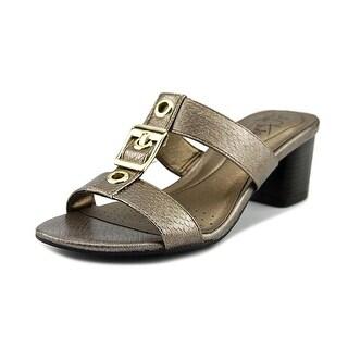Life Stride Rayana Women  Open Toe Leather Bronze Sandals
