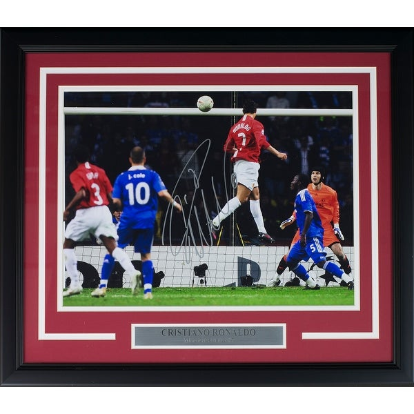 d6a3e4342d8 Shop Cristiano Ronaldo Signed Framed Manchester U 12x16 UCL Goal Soccer  Photo Icons - Free Shipping Today - Overstock - 15615328