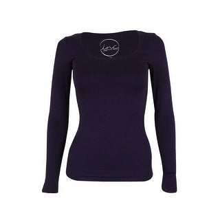 INC International Concepts Women's Long Sleeve Top - blackberry jam