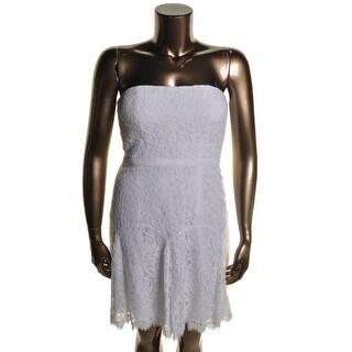 Diane Von Furstenberg Womens Amira Lace Lace Strapless Cocktail Dress - 6