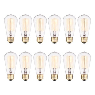 Globe Electric 313242  Pack of (12) 40 Watt Dimmable S60 Medium (E26) Incandescent Light Bulbs - Clear