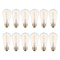 Globe Electric 313242  Pack of (12) 40 Watt Dimmable S60 Medium (E26) Incandescent Light Bulbs -