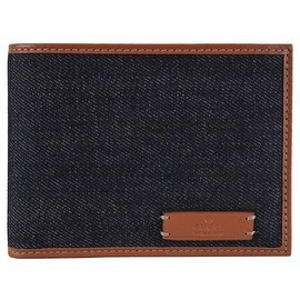 NEW Gucci 278596 Men's Blue Denim and Saffron Leather Bifold Wallet