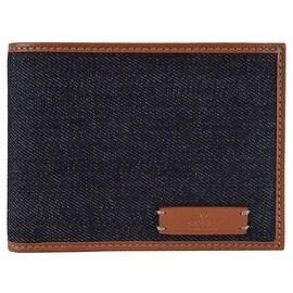 Gucci 278596 Men's Blue Denim and Saffron Leather Bifold Wallet