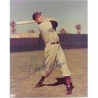 Signed Sauer Hank Cincinnati Reds 8x10 autographed