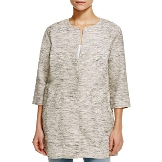 Eileen Fisher Womens Jacket Tweed Long - l