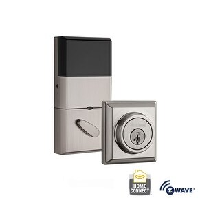 Kwikset 910-S-CNT-ZW Signature Series Contemporary Electronic Deadbolt with Z-Wave Technology - N/A