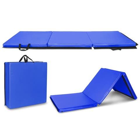 """4.5' x 2' x 1.2"""" Tri-fold Kids Gymnastics Mat Thick"""
