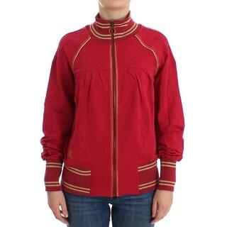 Galliano Galliano Pink Mock Zip Cardigan Sweatshirt Sweater