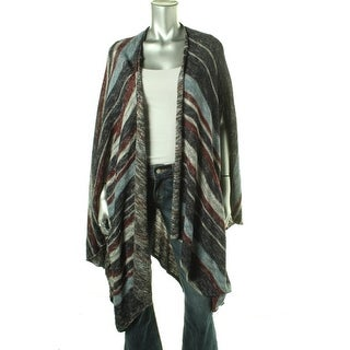 Free People Womens Juniors Striped Open Front Cardigan Sweater - S